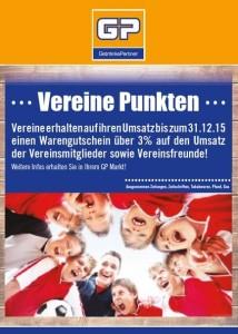 """Flyer Aktion """"Vereine punkten"""""""